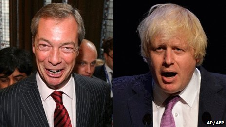 Nigel Farage and Boris Johnson