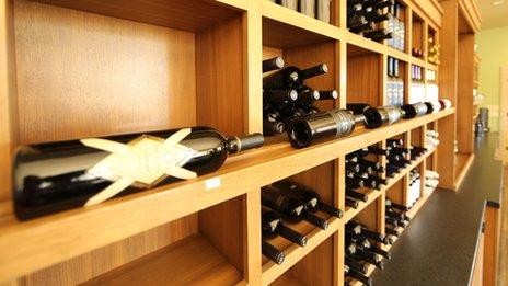 Bottles of wine at Silenus Vintners