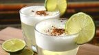 Pisco sour, made with raw egg