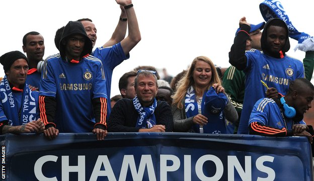Roman Abramovich on Chelsea victory parade