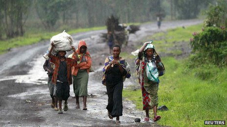 Congolese civilians near Goma, 2 Sep 13
