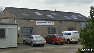 John White & Son premises in Fife