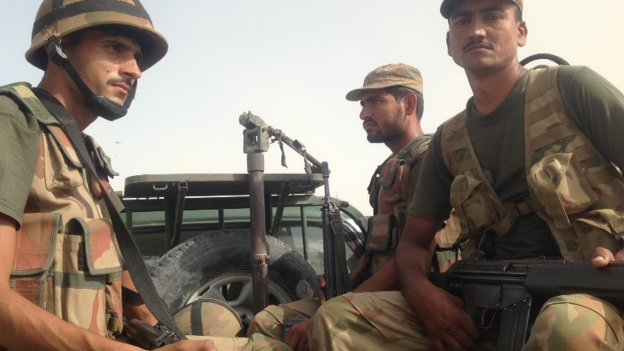 Pakistani troop reinforcements in Balochistan, October 2013.