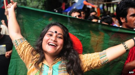 An activist outside the court welcomed the conviction of Chowdhury