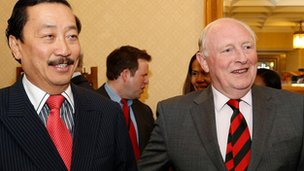 Vincent Tan and Lord Kinnock
