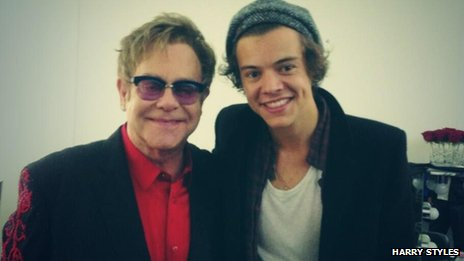 Elton John and Harry Styles