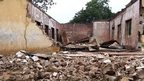 A blow up student hostel in Government Secondary School Mamudo in north-east Nigerian state of Yobe where Boko Haram gunmen launched an attack 6 July 2013, killing 41 students and a teacher - AFP