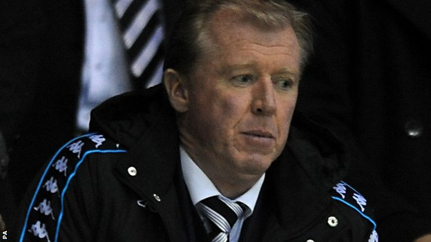 Steve McClaren watches his new Derby side from the stands