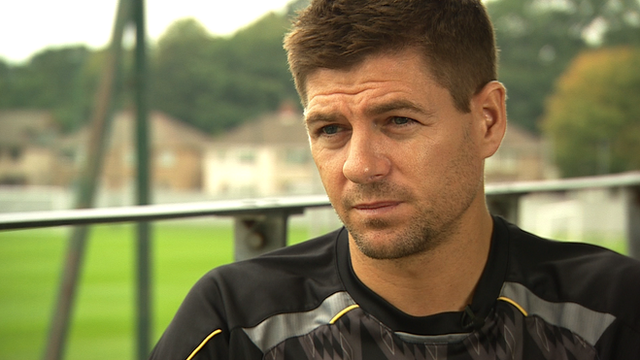 Steven Gerrard at Melwood training ground