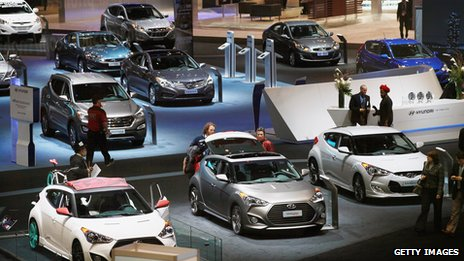 Hyundai cars on display