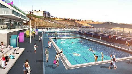 Artist's impression of restored pool