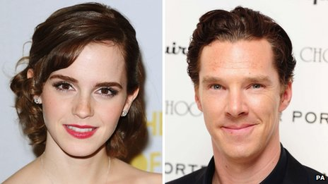 Emma Watson and Benedict Cumberbatch