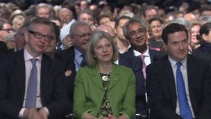 Michael Gove, Theresa May, and George Osborne
