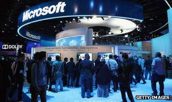 Microsoft booth at CES