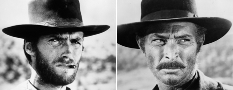 Clint Eastwood and Lee Van Cleef in The Good, The Bad and the Ugly