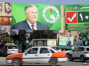 Poster of Jalal Talabani in Sulaimaniya (20 September 2013)