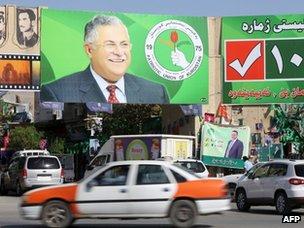 Poster of Jalal Talabani in Sulaimaniya (20 September 2013)
