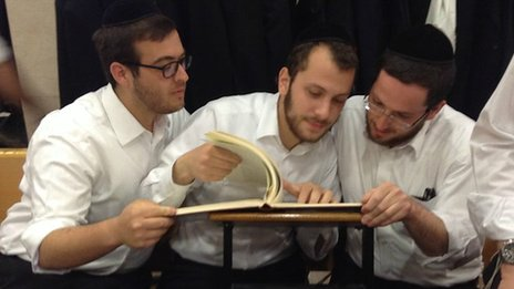 Scholars at Mir Yeshiva in Jerusalem