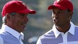 US captain Fred Couples and Tiger Woods