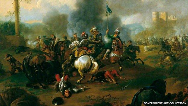 Battle Scene from the Wars of the Ottoman Empire in Europe, Jan van Huchtenburgh