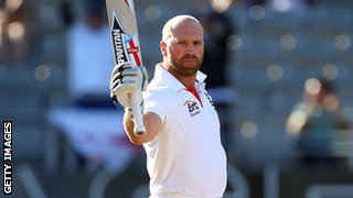 Matt Prior celebrates a century in New Zealand