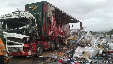 Scene of the crash on the M5