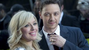 James McAvoy and sister Joy McAvoy arrive for the UK premiere