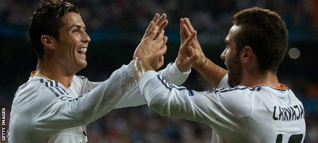 Real Madrid's Cristiano Ronaldo scores in the win over FC Copenhagen