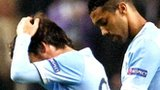 Manchester City's David Silva and Gael Clichy