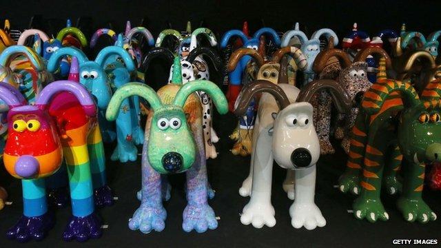 Gromit sculptures