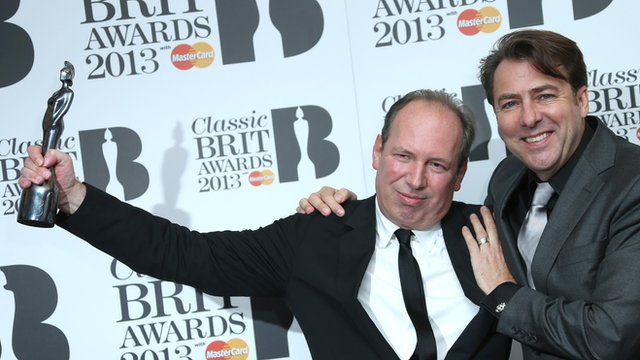 Classic Brit winner Hans Zimmer and presenter Jonathan Ross