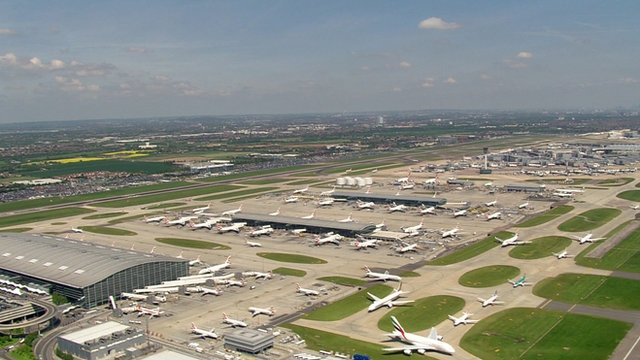 Heathrow airport aerial