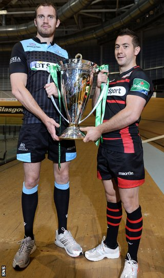 Glasgow Warriors captain Al Kellock and Edinburgh counterpart Greig Laidlaw