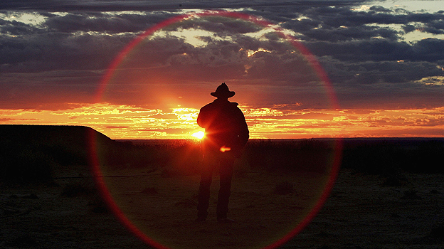 Sunset in the Australian outback