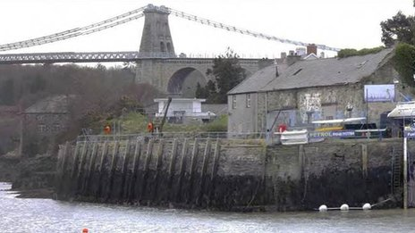 The building to be transformed in Menai Bridge