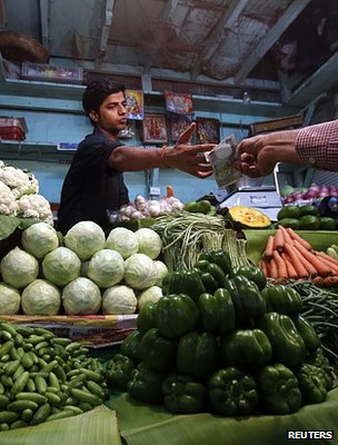 Market vendor, India (Image: Reuters)