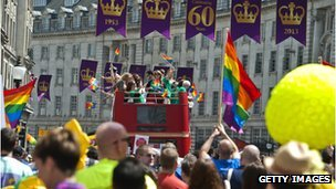 A gay pride event in London