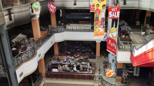 Inside Westgate mall
