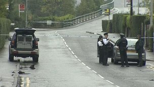 Finaghy Road North has been closed as a result of the alert