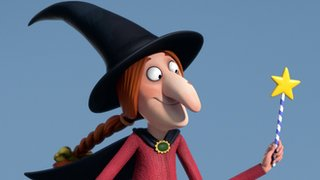 Witch in Room on the Broom