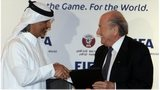 Fifa president Sepp Blatter (right) with Qatar Football Association President Sheik Hamad Bin Khalifa Bin Ahmed al-Thani