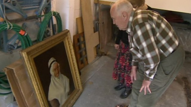 Keith Webb has put the painting in his garage