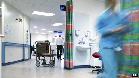 Hospital ward scene