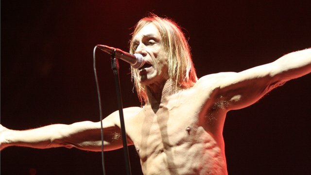 Iggy Pop performing at Glastonbury
