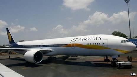 A Jet Airways plane
