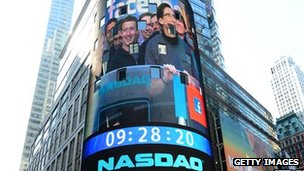 Nasdaq sign Facebook