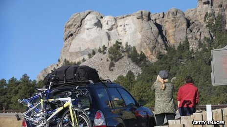Mt Rushmore shut as part of the government shutdown