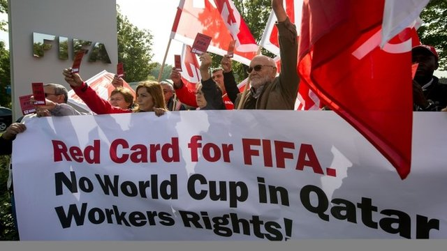 Protests over World Cup