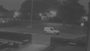 CCTV of the white van police want to trace