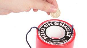 Charity tin